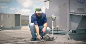Commercial Roof Inspection Water Leaking Pipes